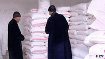 In einem Lagerhof in Duschanbe (Foto: DW)
