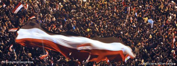 Jubelnde Menschenmenge in Kairo (Foto: ap)