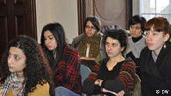 Attendees at an event for Turkish and Armenian students
