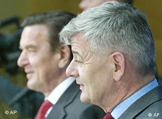 Schröder e Fischer: desafios pela frente