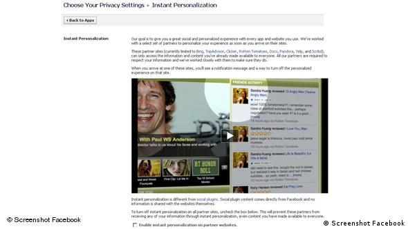 Facebook Privacy Settings Flash-Galerie