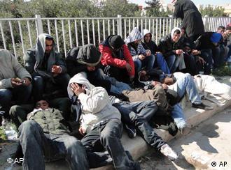 Immigrants on Lampedusa
