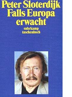 Caso a Europa Acorde. Capa de um livro de Peter Sloterdijk