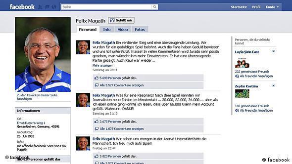 Stranica Felixa Magatha na Facebooku