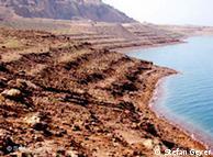 The shores of the Dead Sea in Jordan