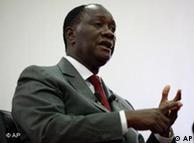 Alassane Ouattara, presidente marfinense reconhecido internacionalmente