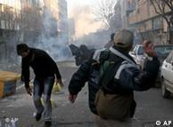 صحنهای از تظاهرات روز ۲۵ بهمن