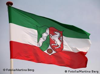 Deutschland Flagge Nordrhein-Westfalen