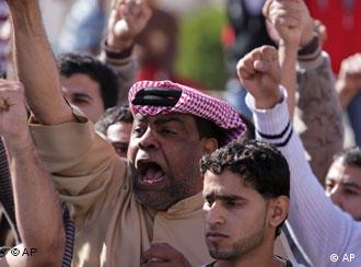 Anti-government protesters in Bahrain