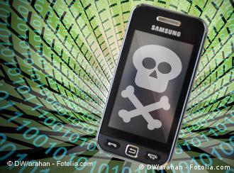 Handy mit Totenkopf (Bild: DW)