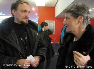 Кирил Туши и Марилуизе Бек после показа фильма