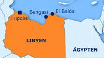 Karte Proteste Libyen