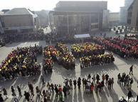 Από τη διαδήλωση των φοιτητών στο Λέβεν