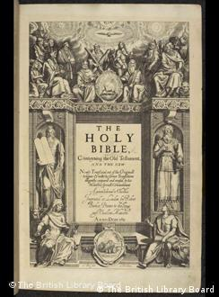 King James Bible cover page