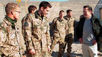 Guttenberg visiting the troops in Afghanistan
