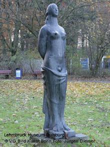 Бронзовая статуя Пандора работы Эдвина Шарфа
