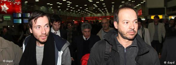 NO FLASH Journalisten Jens Koch und Marcus Hellwig