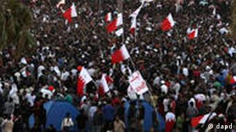 Bahraini protesters at Pearl Square