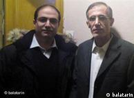 احمد ملکی (سمت راست)، دپیلمات ارشد ایران در ایتالیا و محمد رضا حیدری کنسول پیشین ایران در نروژ