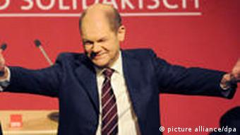 Olaf Scholz on election night