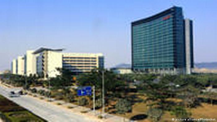 (110217) -- SHENZHEN, Feb. 17, 2011 () -- The undated file photo show a R&D headquarters of Huawei Technologies Co. (R), a Chinese telecommunications maker, in Shenzhen, south China's Guangdong Province. Huawei on Feb. 16 said to that it would not withdraw from the review by a US panel over a transaction of purchasing the U.S.-based 3Leaf Systems. Huawei, who bought 3Leaf Systems last May, was asked by the Committee on Foreign Investment in the United States (CFIUS) on Feb. 11 to withdraw from the review and back out the deal or otherwise the committee would recommend U.S. President Obama cancel the deal. CFIUS is a 12-agency group with the authority to recommend the White House block or alter terms of deals that involve national security. () (hdt)