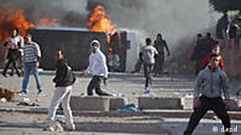 Protesters in Marrakech