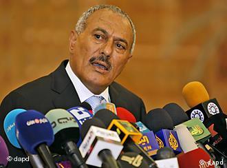 Saleh at press conference