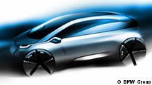 BMW Megacity Vehicle Design Sketch (07/2010) Schlagworte: BMW, megacity, electric, design Wer hat das Bild gemacht/Fotograf?: BMW Group Wann wurde das Bild gemacht?: 2010 Wo wurde das Bild aufgenommen?: München Bildbeschreibung: Design-Skizze - BMW Megacity Vehicle Rechteeinräumung: BMW Group