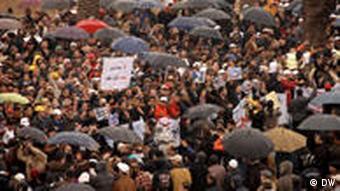 Demonstration in Rabat, Morocco