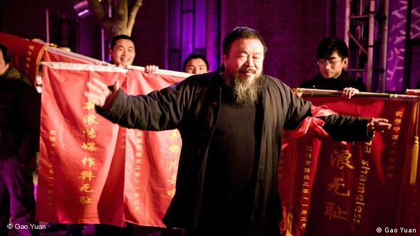Ai Weiwei at a literature festival in Cologne 2010