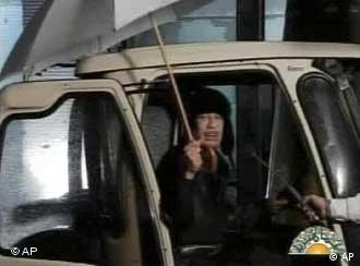 Телевизискиот настап на Гадафи