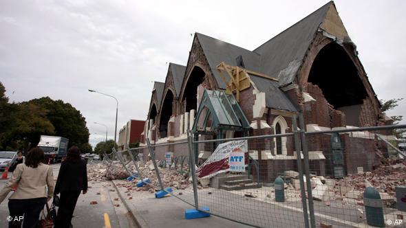 Schweres Erdbeben In Neuseeland Asien Dw 22 02 2011