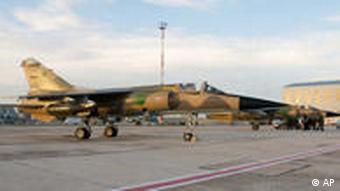 A Libyan jet parked at Malta airport