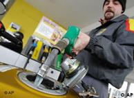 Man refueling at a gas station