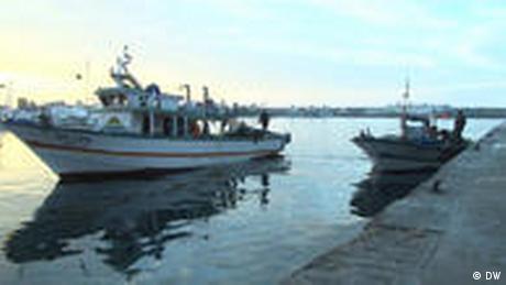 .Boot in Kelibia Hafen , Tunesien (DW)