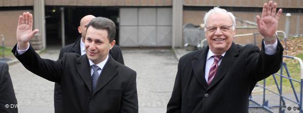 NO FLASH Nikola Gruevski und Mihajlo Manevski
