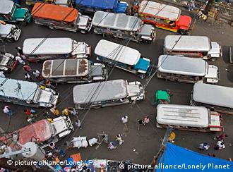 Streets are extremely congested during rush hour in Manila