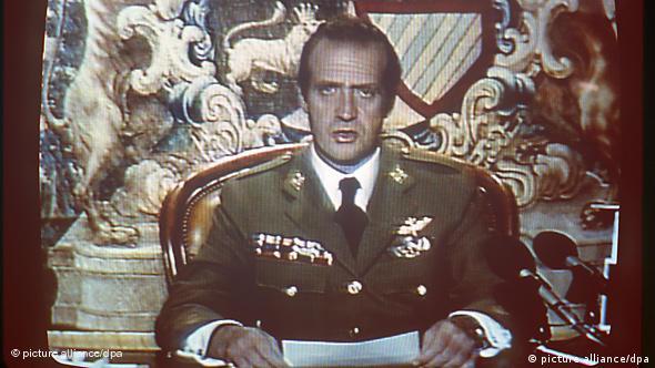 Spanien Putsch 1981 Fernsehrede von König Juan Carlos in Madrid