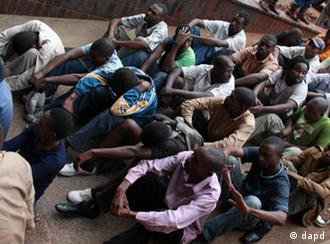 46 social and human rights activists appear in court in Harare, February 2011