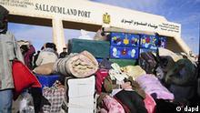 Flash-Galerie Libyen ägyptische Gastarbeiter an der Grenze zu Ägypten