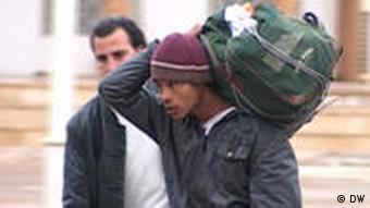 Rückkehr eines Tunesiers aus Libyen