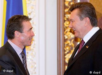 Генсек НАТО Андерс Фог Расмуссен и президент Украины Виктор Янукович