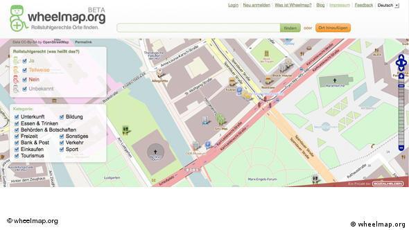 Скриншот интерактивной карты