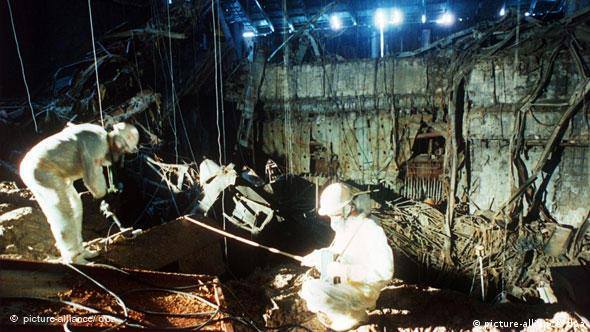 Ликвидаторы на Чернобыльской АЭС в 1986 году