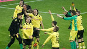 Dortmund players celebrate
