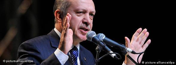 Der türkische Ministerpräsident Recep Tayyip Erdogan in Düsseldorf NO FLASH