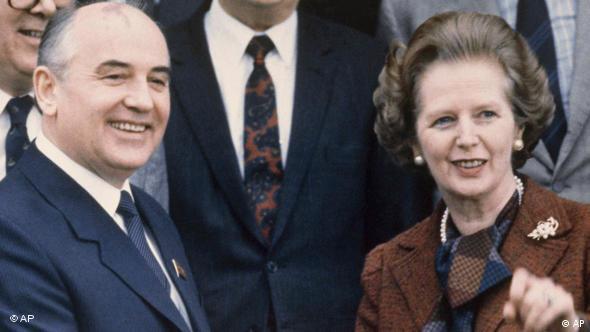 Thatcher y Mijail Gorbachov, protagonistas de la historia reciente.
