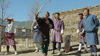 Most Bhutanese men wouldn't say no to a game of archery