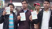 Rückkehr Bangladesh Arbeiter