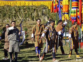 Even Bhutan's king likes a game of archery from time to time